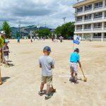 子どもグラウンドゴルフ教室が行われました。